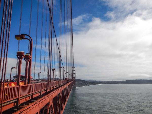 The golden gate bridge, on my return trip.