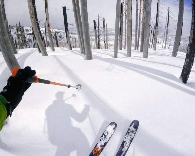 Skiing the burn