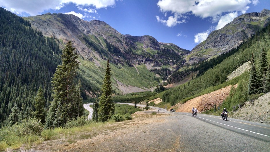 The final ascent to Red Mountain Pass coming from Silverton Colorado
