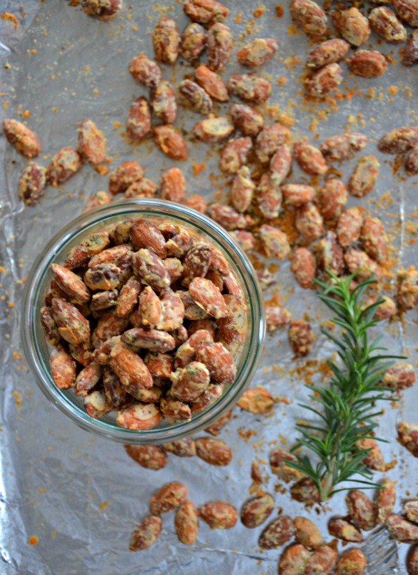 Parmesan Rosemary Almonds