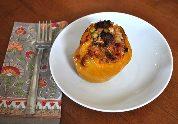 stuffed-pepper-mozzerella-dill