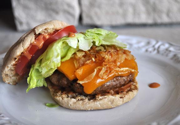 whole-wheat-english-muffin-burger-recipe