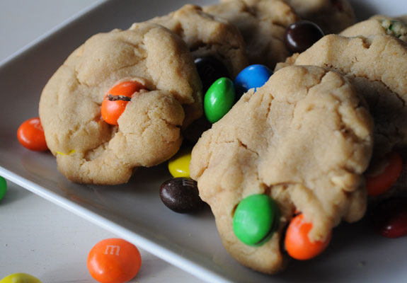peanut-butter-cookie-with-peanut-butter-m&m's-mountain-mama-cooks-1