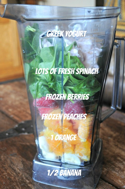 Green Smoothie, Mountain Mama Cooks