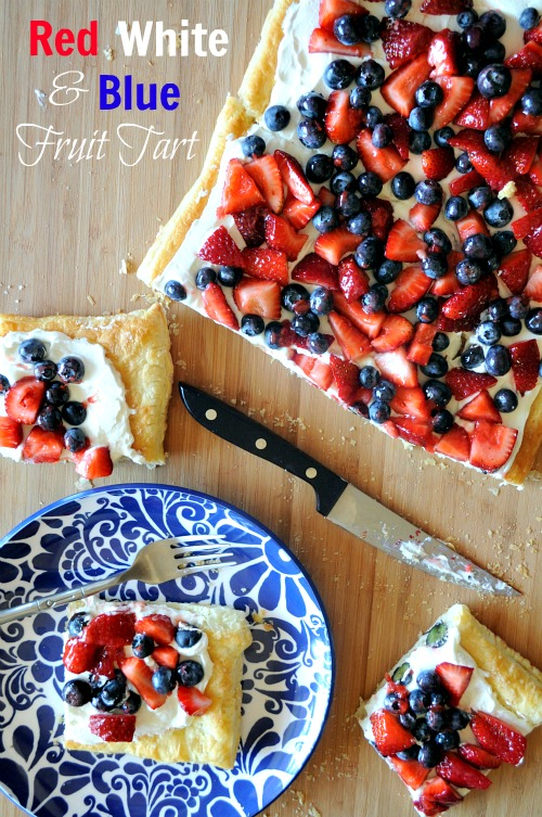 Red White & Blue Fruit Tart, Mountain Mama Cooks