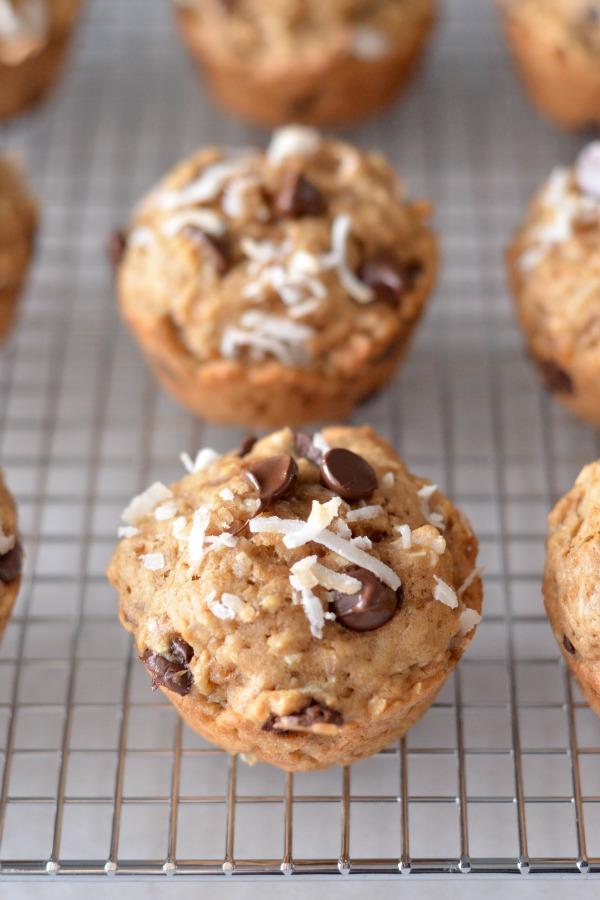 Banana Power Muffins | mountainmamacooks.com