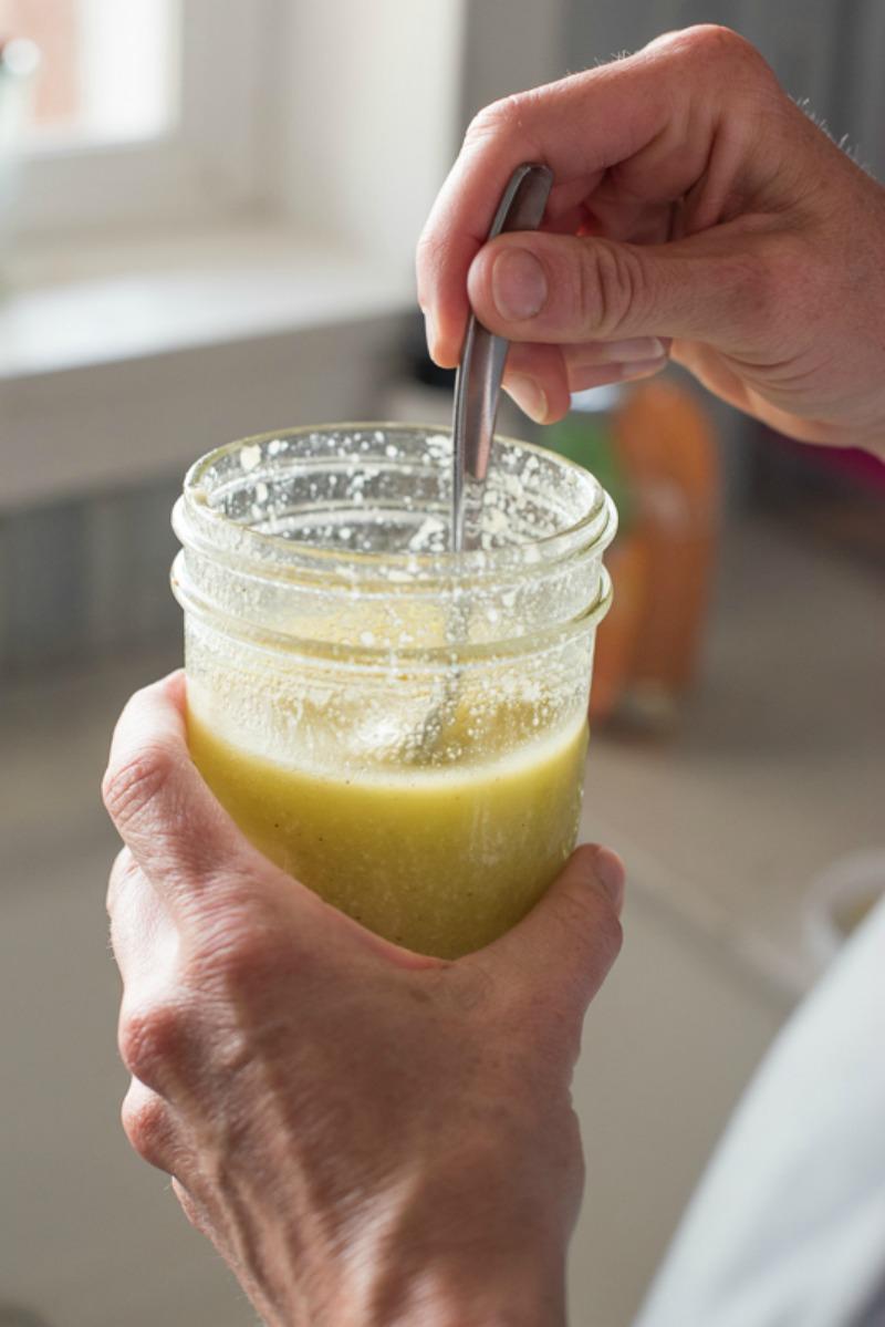 Lemon Parmesan Vinaigrette (aka The BEST Dressing EVER) www.mountainmamacooks.com