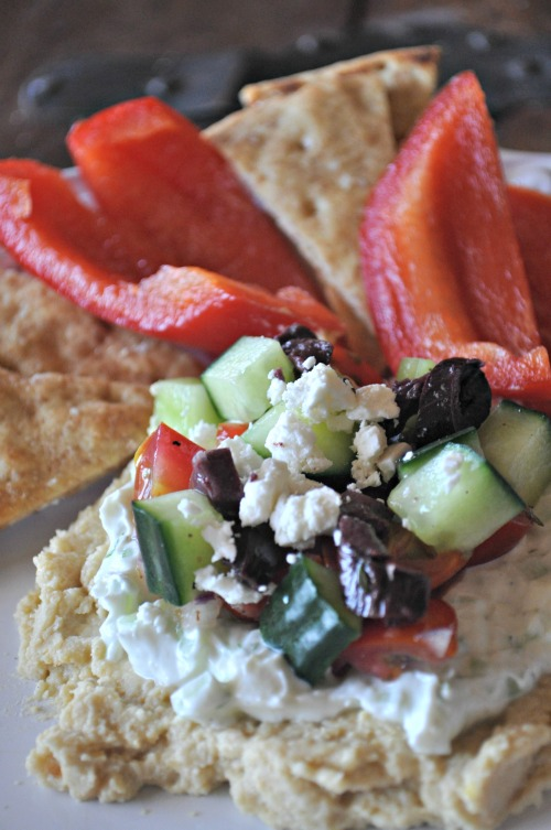 Greek 7-layer dip, Mountain Mama Cooks