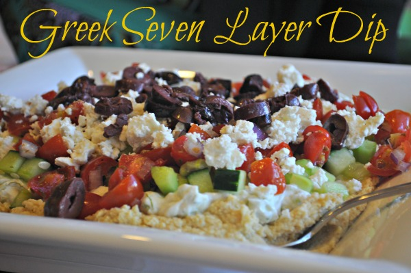 Greek Seven Layer Dip, Mountain Mama Cooks