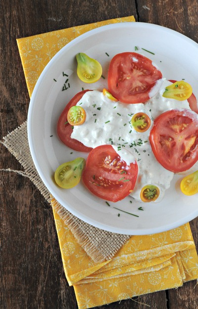 Blue Cheese Dressing & Heirloom Tomatoes, Mountain Mama Cooks