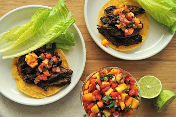 easy-steak-tostadas-with-fresh-peach-salsa-www.mountainmamacooks.com
