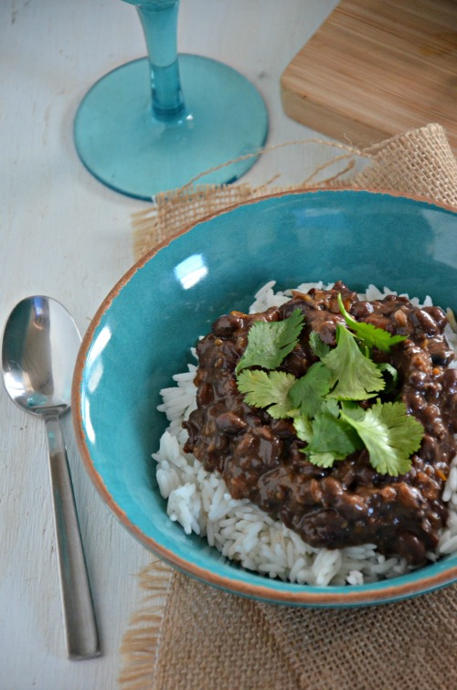 cuban black beans and white rice, www.mountainmamacooks.com