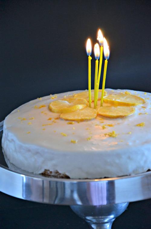 Simple Lemon Birthday Cake, www.mountainmamacooks.com