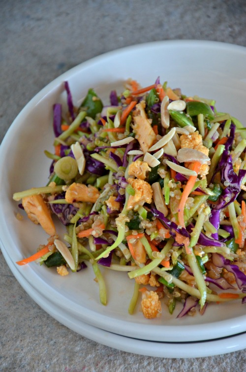 Vegan Broccoli Slaw with Quinoa Recipe, www.mountainmamacooks.com