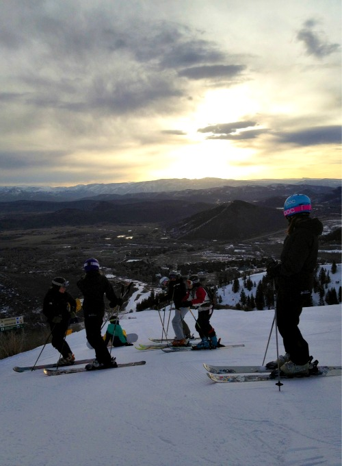 sunset at Canyons Resort #firsttracks, www.mountainmamacooks.com