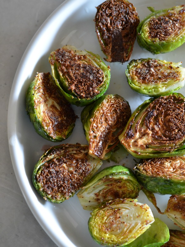 blackened brussels sprouts, www.mountainmamacooks.com