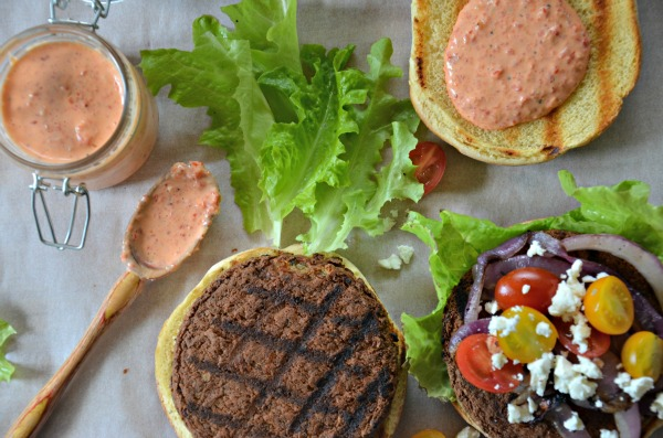 Grilling Wildwood Original Veggie Burgers Greek Style, www.mountainmamacooks.com