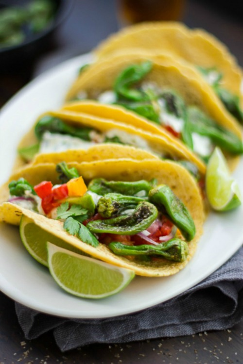 Padron Pepper & Goat Cheese Tacos