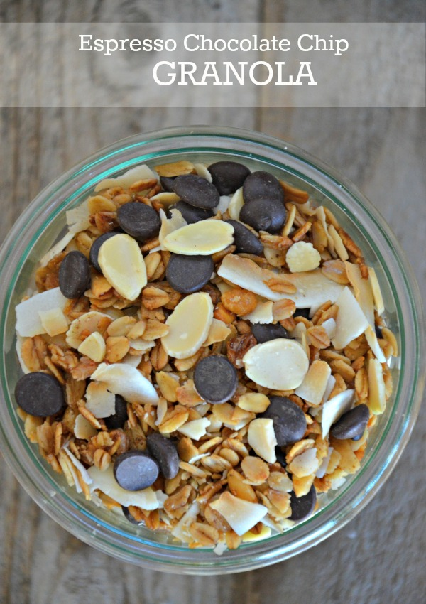 Espresso Chocolate Chip Granola, mountainmamacooks.com