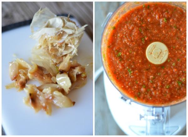 Roasted Garlic Blender Salsa   mountainmamacooks.com