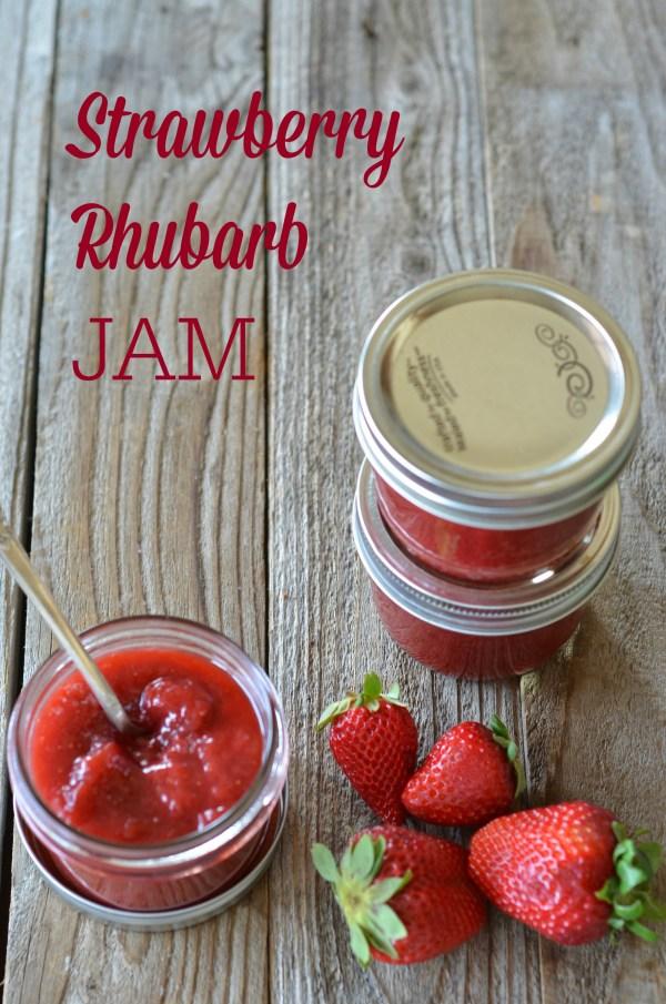 Strawberry Rhubarb Jam | mountainmamacooks.com