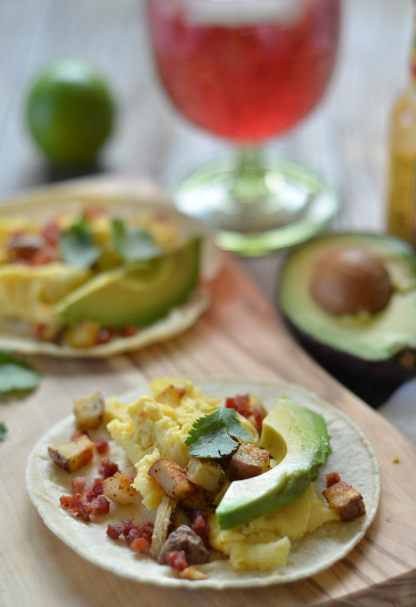 Pancetta and Potato Breakfast Tacos | mountainmamacooks.com