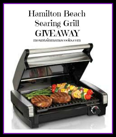 Hamilton Beach Searing Grill Giveaway | mountainmamacooks.com #giveaway