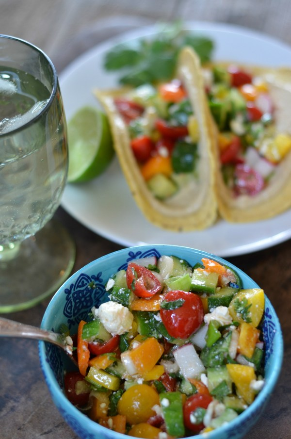 Hummus and Mexican Chopped Salad Tacos   mountainmamacooks.com