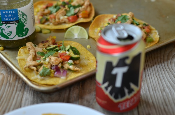 Chicken and Summer Vegetable Tostadas | mountainmamacooks.com #TacoTuesday