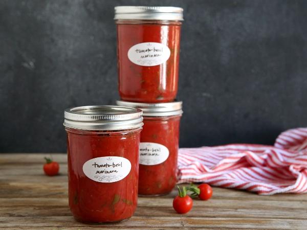 Tomato Basil Marinara #canningweek14