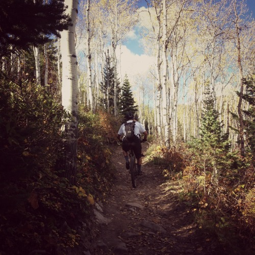 Chasing my better half up the mountain.