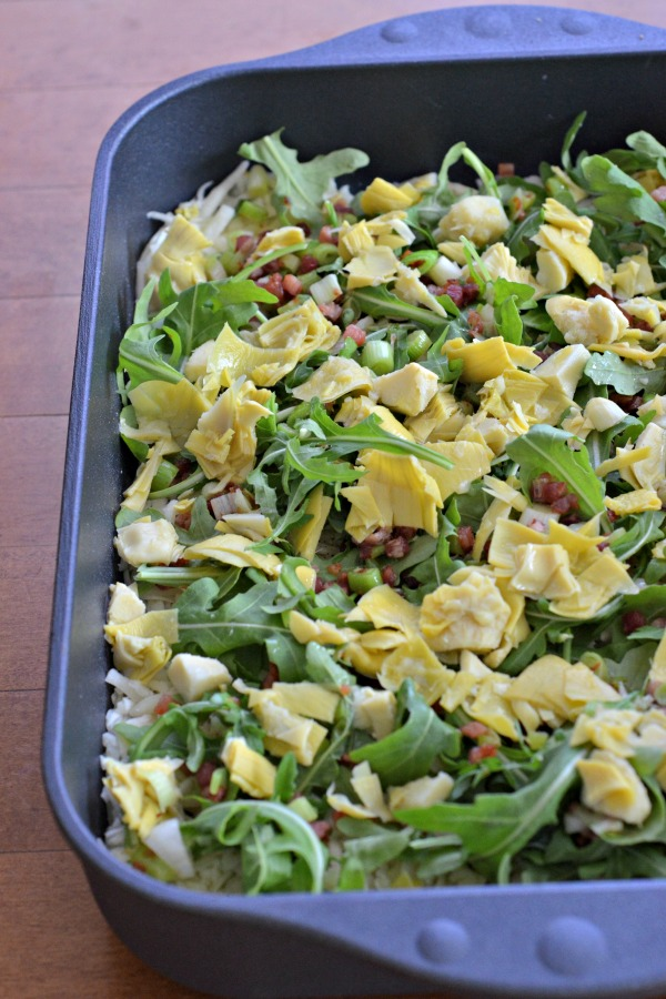 Hash Brown Casserole with Pancetta and Artichokes | mountainmamacooks.com