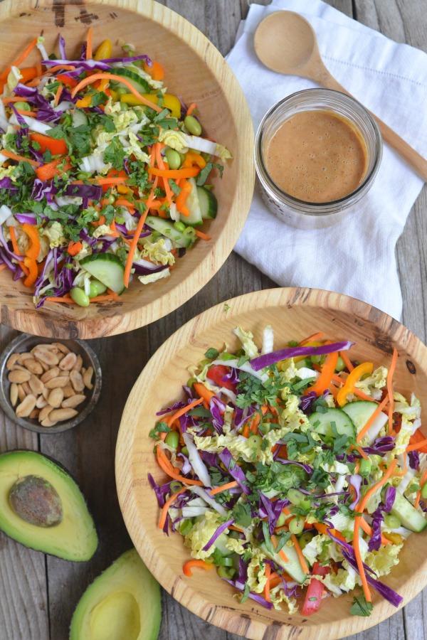 Thai Crunch Salad | mountainmamacooks.com