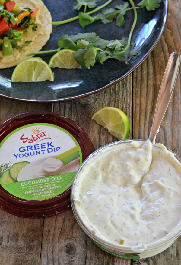 Veggie Hummus Tacos | mountainmamacooks.com #TacoTuesday