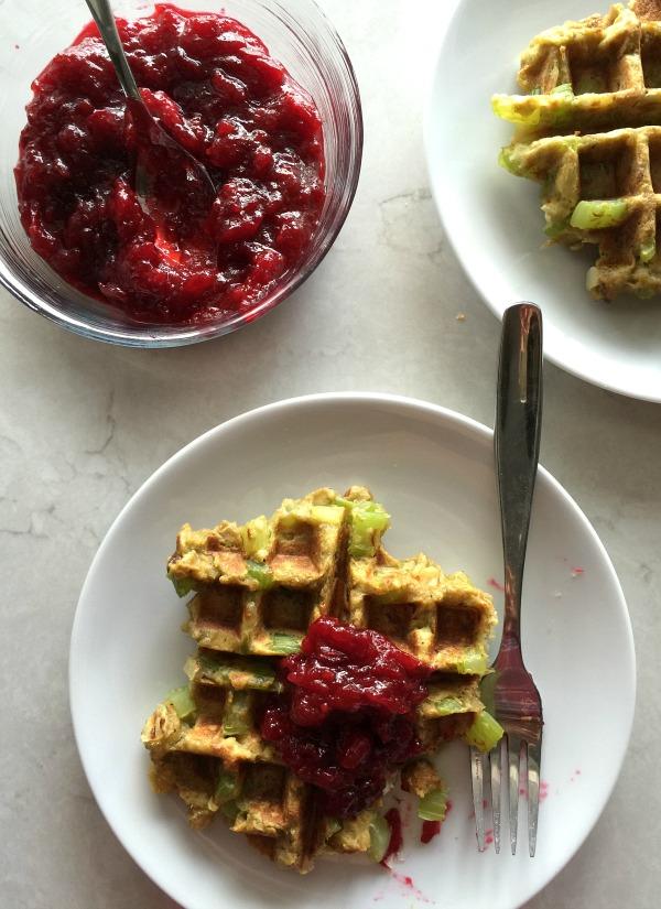 Leftover Stuffing Waffles | mountainmamacooks.com