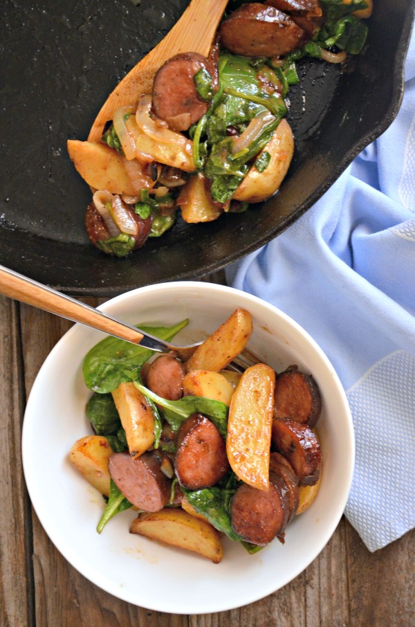 Kielbasa Potato Hash | mountainmamacooks.com