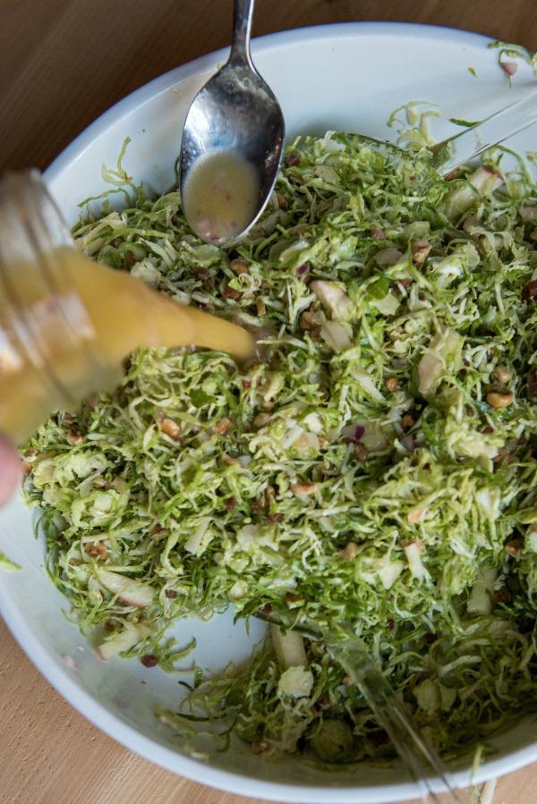 Shredded Brussels Apple Salad | www.mountainmamacooks.com