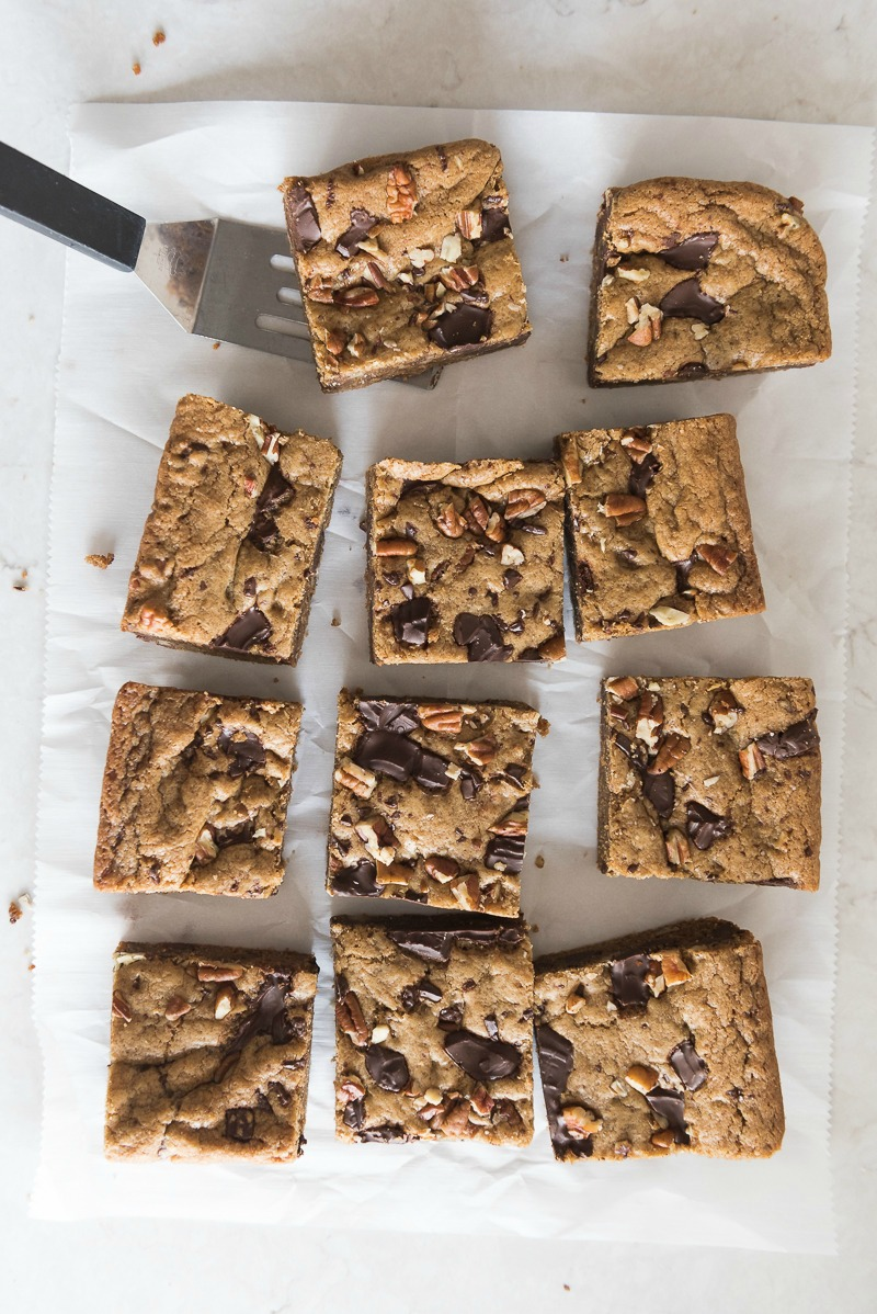 Espresso Chocolate Chunk Blondies | www.mountainmamacooks.com