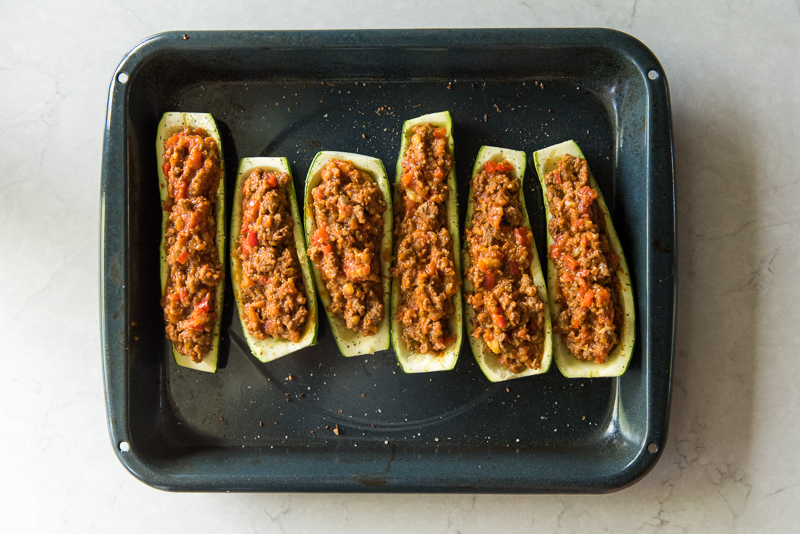 Italian Zucchini Boats with Turkey Sausage | www.mountainmamacooks.com
