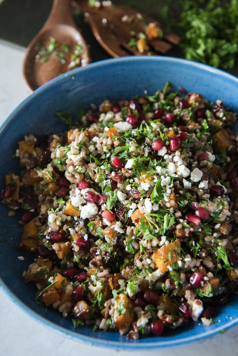 Butternut Squash and Wild Rice Salad | www.mountainmamacooks.com