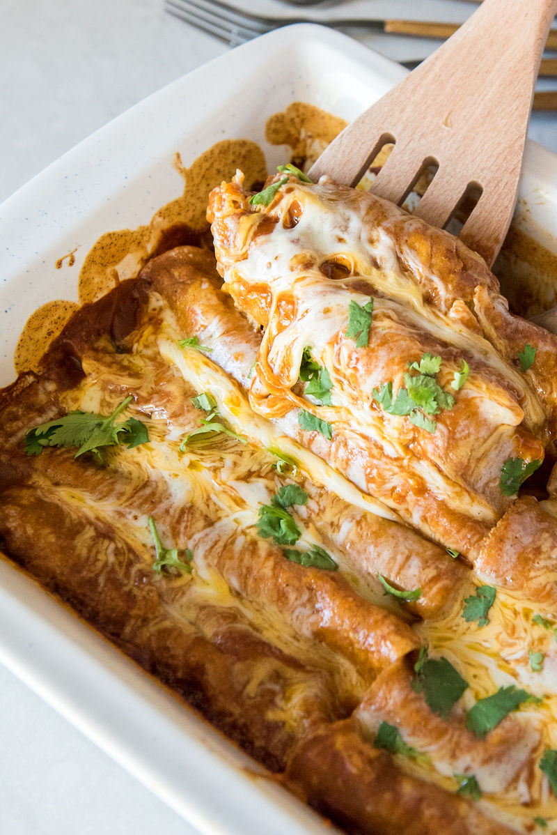 Ground Beef and Bean Enchiladas | www.mountainmamacooks.com