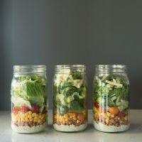 Mason Jar Turkey Taco Salad | www.mountainmamacooks.com