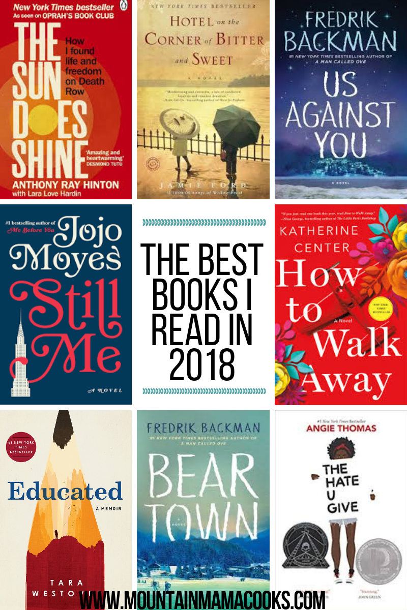 The Best Books I read in 2018 | www.mountainmamacooks.com