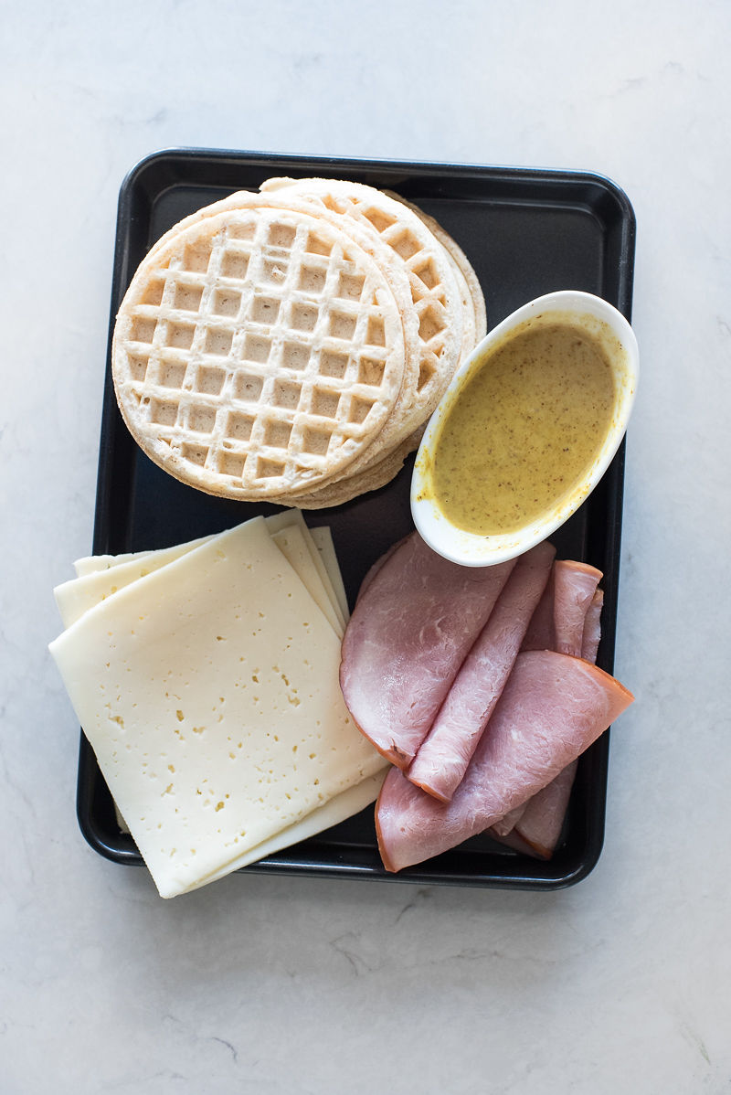Frozen Waffle Grilled Ham and Cheese | www.mountainmamacooks.com
