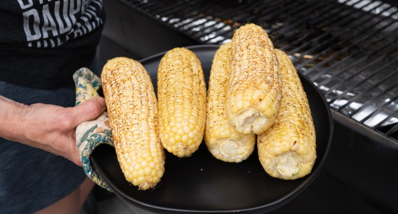 The best corn is only three ingredients and so easy to cook on the Traeger!