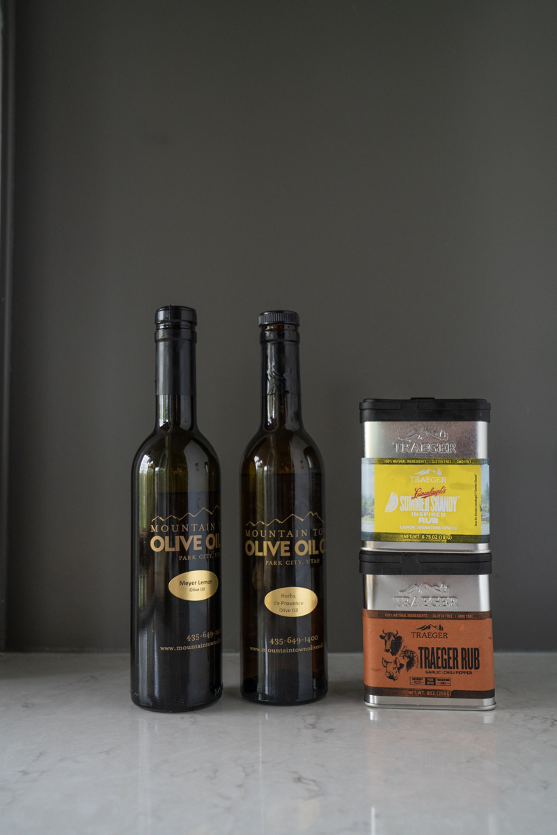 My favorite olive oils and rubs that I use for making corn on the cobb on a Traeger.