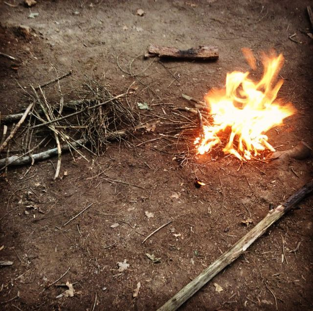 starting a bow drill fire