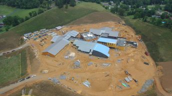 Roughly 90 percent of the brick of the school has been placed. [SUBMITTED PHOTOS]