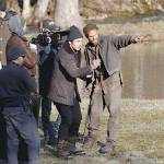 Actor James Franco directing Child Of God's Scott Haze in what is sure to be an Oscar winning performance as Lester Ballard