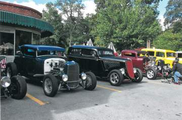 Vintage hot rods on display in Lewisburg at DARE Car Show last weekend